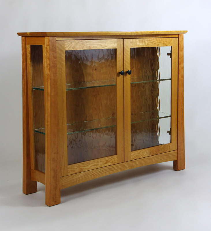 Figured Cherry Display Cabinet - Rugged Cross Fine Art Woodworking