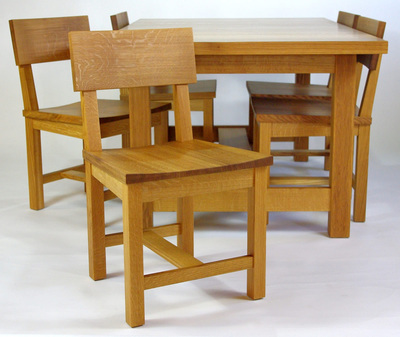Quartersawn White Oak Dining Set Rugged Cross Fine Art