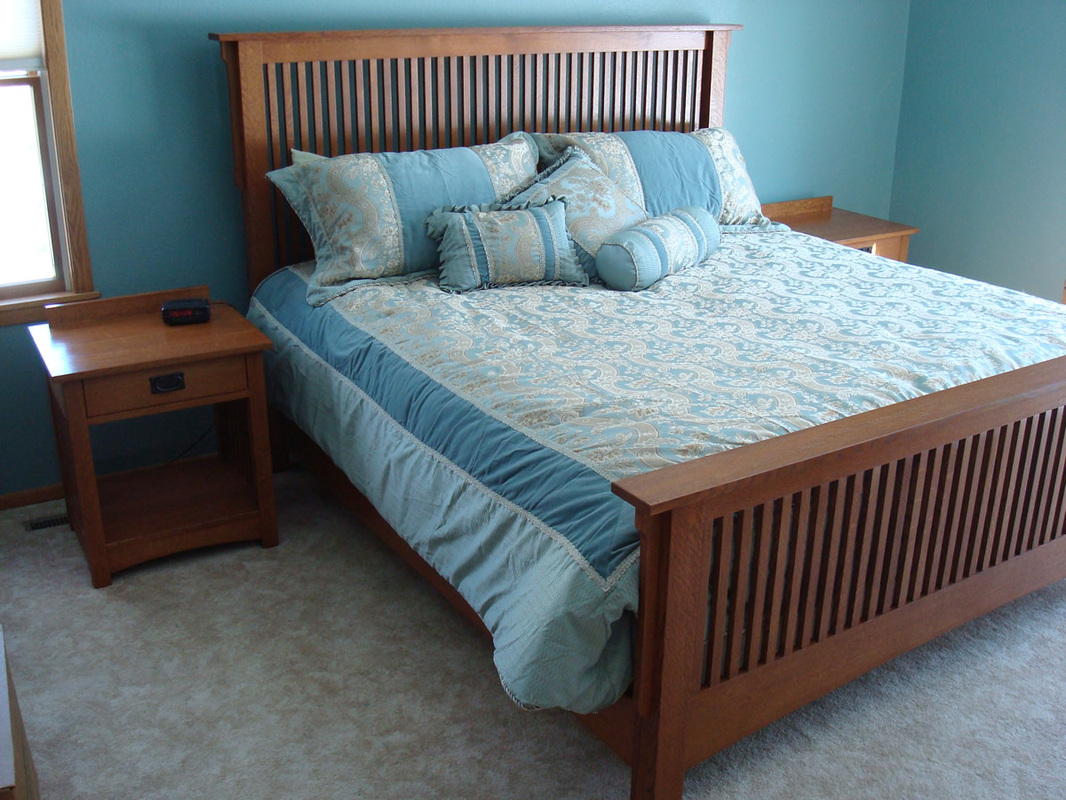 Mission Inspired Bedroom Furniture Rugged Cross Fine Art Woodworking