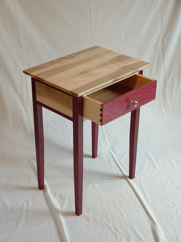 Purple Heart Cherry And Curly Maple Furniture Rugged