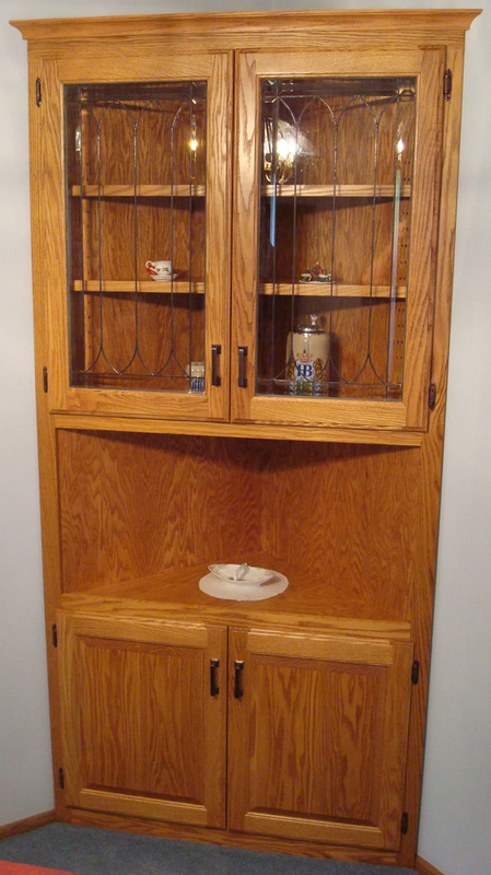 china cabinet ideas built in oak china cabinet with stained glass doors 13550